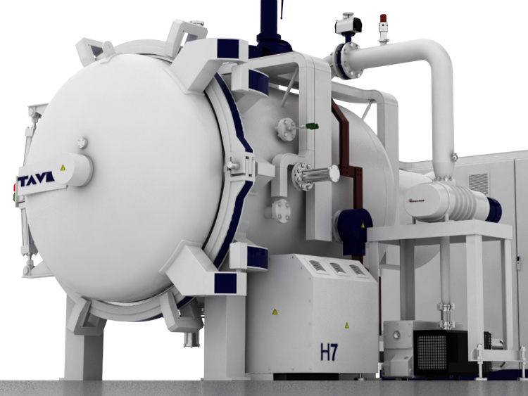 Horizontal vacuum furnaces<br/>Hinged door